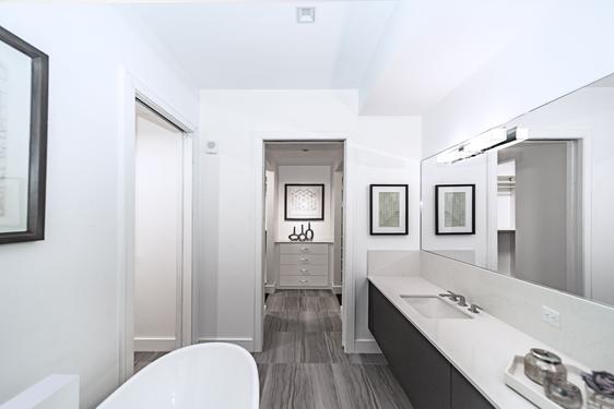 Bathroom renovation job done with wood finish floor tiles (1)