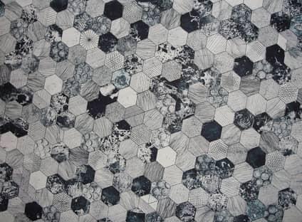 Beautiful hexagon porcelain tiles we used on a bathroom in Bendigo